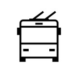 Trolleybus front view icon