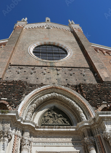 Church of Saints John and Paul in Venice Island in Northern Ital