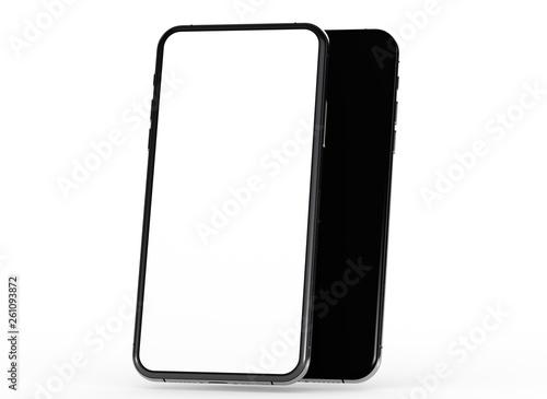 phone 3d illustration mockup smartphone