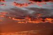 canvas print picture - Sonnenuntergang Sonnenaufgang am Himmel