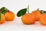 Mandarini su sfondo bianco