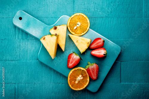 canvas print picture frucht stücke