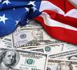 Quadro USA flag and cash