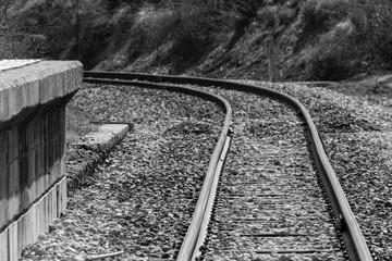 railway tracks in the fog -- Dosante-Cidad (Burgos)