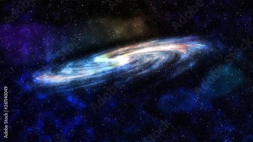 concept art of universe with majestic galaxy   © archangelworks