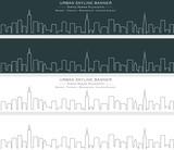 New York City Single Line Skyline Banner