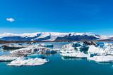 Jokulsarlon Glacier lagoon and Oeraefajokull glacier, a part of Vatnajökull national park