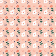 Pattern with flowers - 261160656