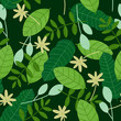 spring green leaves seamless pattern - 261223208