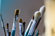 Closeup of brushes
