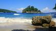 canvas print picture - malerische Bucht der Crystal Bay auf der Insel Nusa Penida in Indonesien