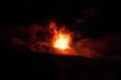 Quadro Etna in eruzione