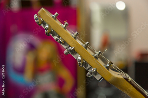 Bass Guitar In Music Studio. Musical Instruments and equipment - 261330042