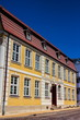 canvas print picture - Saniertes Bürgerhaus in Rostock, Deutschland
