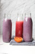 canvas print picture - Smoothies in Glasflaschen