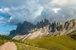 Quadro Autumn Geisler or Odle mountain Dolomites Group, Val di Funes, tourist region of Italy