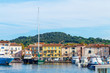 Quadro Boats and luxury yachts in por of Saint Tropez, France