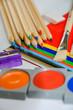 canvas print picture - Material zum Basteln, Malen und Schreiben für die Schule