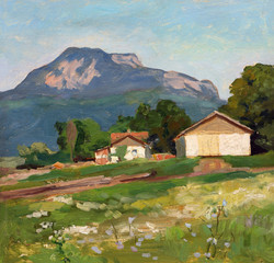 Summer, Sunny Crimean landscape