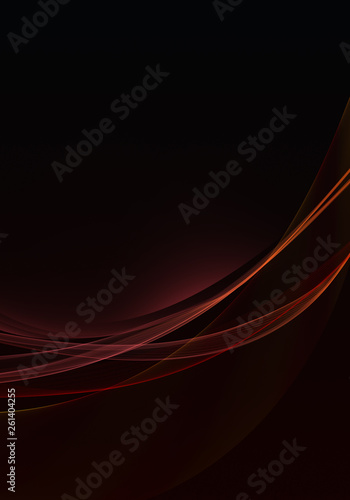 Abstract black background with dynamic red lines and space for your text - 261404255
