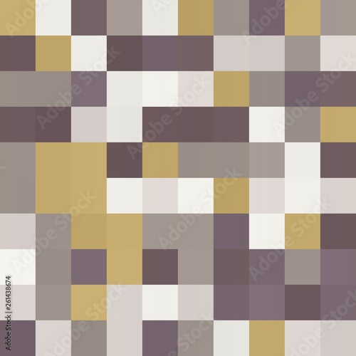 abstract colorful seamless geometric texture background with 100 rectangular squares in mosaic pattern. can be used for clothes fabric garment fashion graphic or concept design. - 261438674