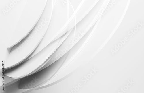 Leinwandbild Motiv Installation of intersected round shapes. 3d