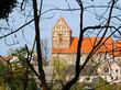 canvas print picture - Blick zur evangelischen Stadtkirche Sankt Johannes