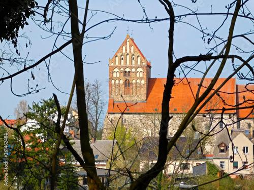 canvas print picture Blick zur evangelischen Stadtkirche Sankt Johannes