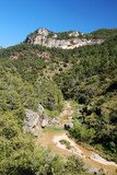 A mountain terrain of Siurana in Priorat, Spain