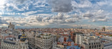 Madrid Spain aerial panorama cityscape