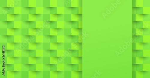 Green abstract background vector with blank space for text.