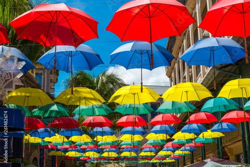 canvas print picture parasols st. louis mauritius
