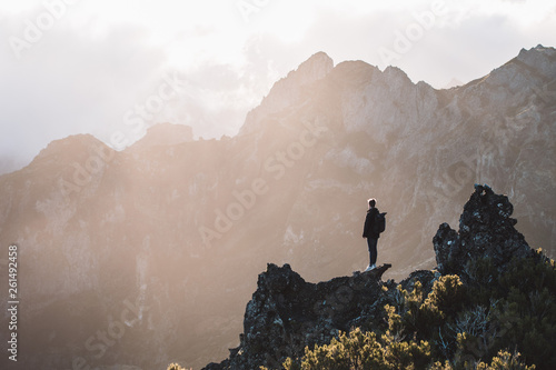 canvas print picture Madeira - Portugal / Sunrise in the mountains