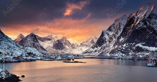 Leinwandbild Motiv Winter in Norwegen