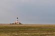 Leinwanddruck Bild - Leuchtturm Westerheversand in Schleswig-Holstein, Deutschland