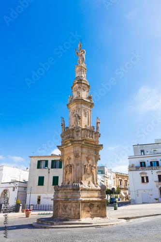 canvas print picture Altstadt von Ostuni, Brindisi, Italien
