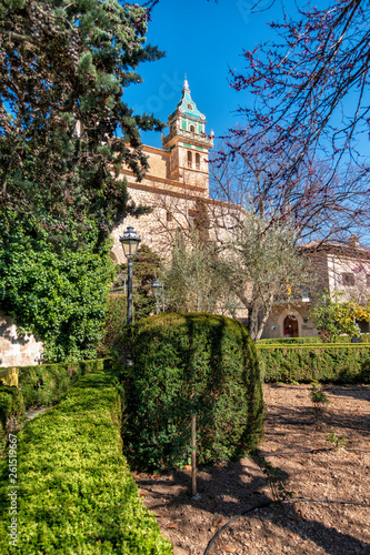 canvas print picture Kartäuserkloster Sa Cartoixa in Valldemossa auf Mallorca