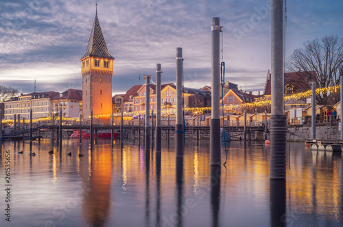 canvas print picture D, Bayern, Bodensee, Lindau, Hafenweihnacht, Weihnachtsmarkt