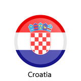 Flags of Croatia circle shaped design.Vector