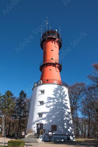 canvas print picture Leuchtturm Rozewie Schutz Gebäude Turm