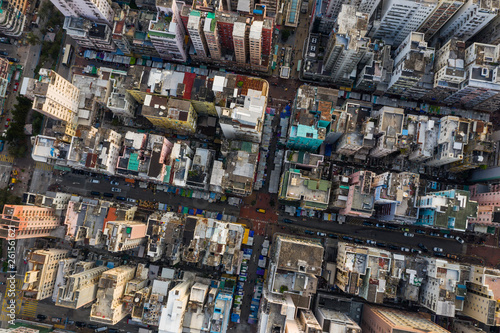 Top down view of Hong Kong city - 261561621