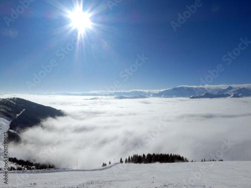 Zdjęcia na płótnie, fototapety, obrazy : Skifahren in Saalbach Hinterglemm Leogang