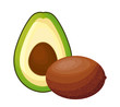 fresh kiwi with avocado healthy