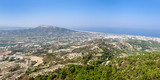 View of the coast of Rhodes island and the Aegean sea from Filerimos mountain.