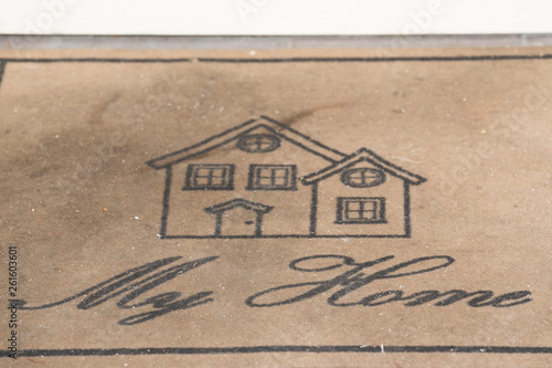 Leinwanddruck Bild symbol für wohnen