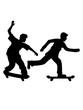 skateboard 2 skater freunde team paar sprung stunt trick fahren spaß hobby brett rollen clipart schnell symbol zeichen piktogramm cool