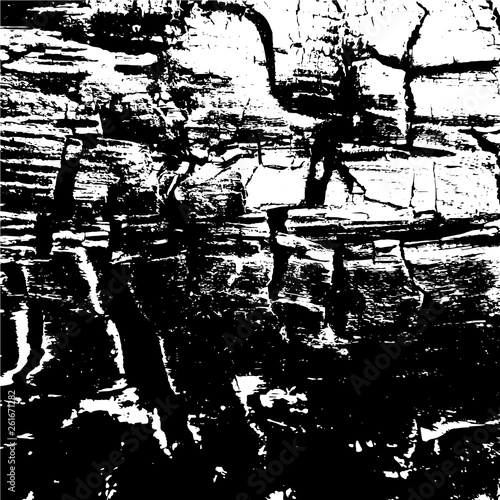 Wood texture of black and white tones. A Picture includes wood, lines, spots, dirt, streaks, dotsburnt tree and coal elements. © Vero