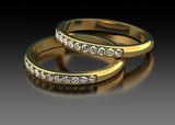 Two diamond wedding ring
