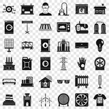 Electricity icons set. Simple style of 36 electricity vector icons for web for any design
