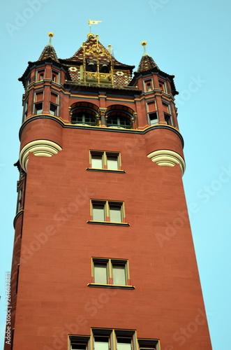 canvas print picture Turm des Basler Rathauses